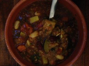 Plant-Based Minestrone Soup with Quinoa